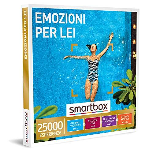 Smartbox - Emozioni per Lei - Cofanetto Regalo per Donna, Soggiorni, Cene, Pause Benessere o Attività Sportive per 1 o 2 Persone, Idee Regalo Originale per Lei