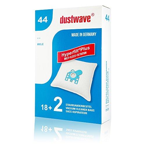 dustwave® - 20 sacchetti per aspirapolvere adatti per Miele - Complete C3 PowerLine Aspirapolvere di marca Dustwave® - Made in Germany + microfiltro