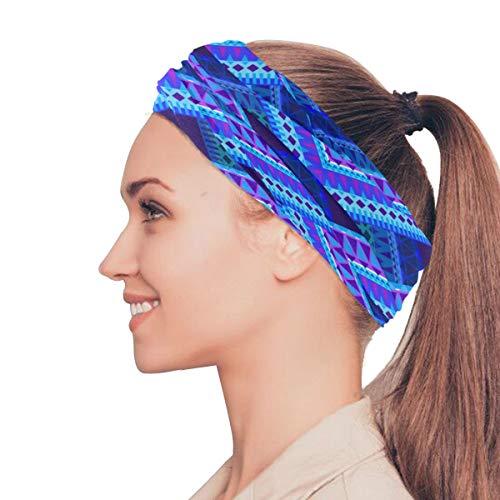 Rtosd Blu Tartan Plaid Modello Stile Elastico Fasce Head Wrap Scialle Sport Sweatband Maschera Magica Sciarpa Accessori per Capelli Fasce Cravatte per Le Donne Ragazze Running Fitness Yoga