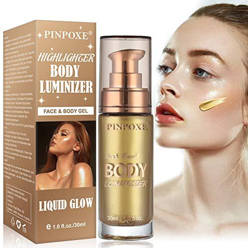 Liquido Illuminante, Evidenziatore Del Corpo, Illuminante Makeup, Glitter Liquida Shimmer Illuminanti Viso Liquid Highlighter, Risultato Naturale E Incarnato Luminoso