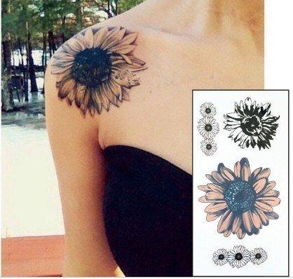 Tatuaggi per tatuaggi con girasoli FT02