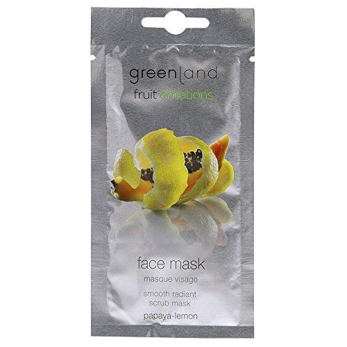 Emozioni Groenlandia frutta Maschera scrub viso rinfrescante e lenitiva papaya e limone 120 ml