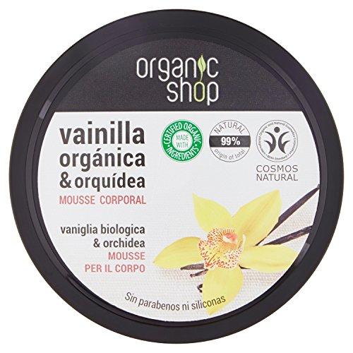 Organic Shop Mousse Corpo alla Vaniglia Biologica & Orchidea, 250ml