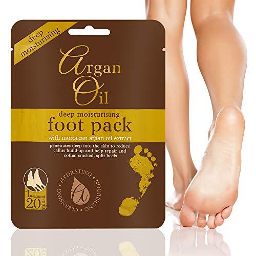 Impacco per l'idratazione profonda dei piedi con estratto di olio di argano del Marocco