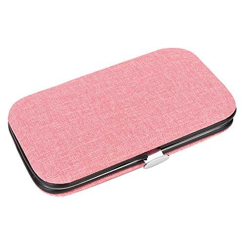 Comodo strumento per manicure in acciaio inossidabile sicuro in acciaio inossidabile, lima per unghie durevole, donna uomo per viaggi a casa(Pink)