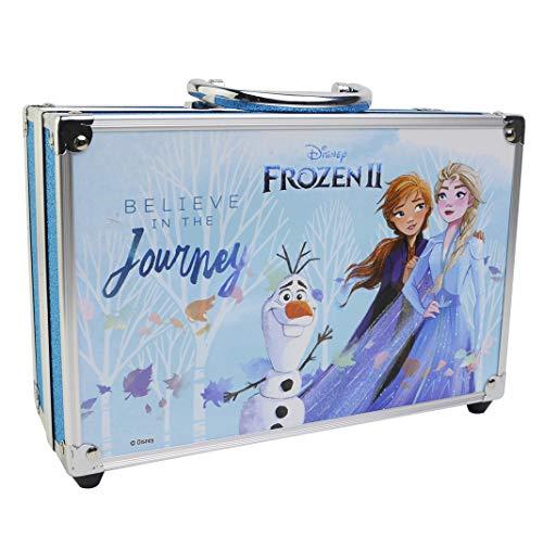 Frozen II in Time Beauty Travel X6 – Valigetta per trucchi, set di trucchi per bambine, trucchi e accessori in una valigetta riutilizzabile con specchio