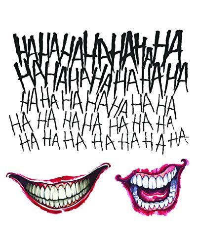 Horror-Shop Suicide Squad Joker Tattoo Set 3 pz.