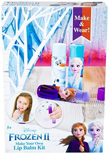 Disney Kit Burrocacao Fai da Te per Bambini con Anna, Elsa, Olaf, Kit Creativo Completo per Balsamo Labbra con 3 Colori, Regali di Natale Compleanno Fai da Te per Bambina da 8+ Anni