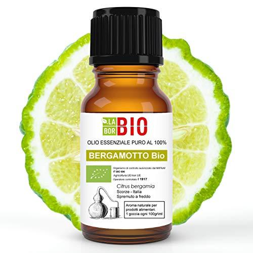 Bergamotto di Calabria Bio Olio essenziale 100% Puro 10 ml - Uso interno Terapeutico Alimentare Diffusori Aromaterapia Cosmetica Cucina - LaborBio