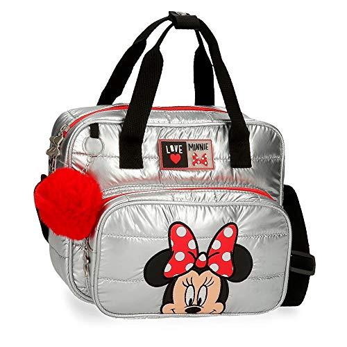 Disney Minnie My Pretty Bow Beauty case adattabile con tracolla grigia 26 x 21 x 13 cm poliestere