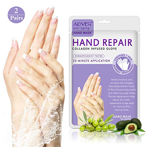 2-Pack Moisturizing Gloves,Treatment Hand Spa Mask for Dry,Cracked Hands,Moisturizer Hands Mask, Repair Rough Skin for Women&Men