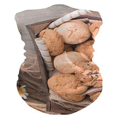 Maschera da donna in tessuto multifunzione, bandana da cucito, modello unisex con farina d'avena e cioccolato, motivo stampabile per uomo e donna, copricapo, asciugamano viso
