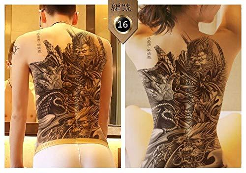 BLOUR Nuovo 48 * 35 cm Grande Geisha Tatuaggi Uomini Donne Impermeabili Grandi Adesivi Tatuaggio temporaneo Full Back Body Art Tatuaggio Finto Drago Teschio