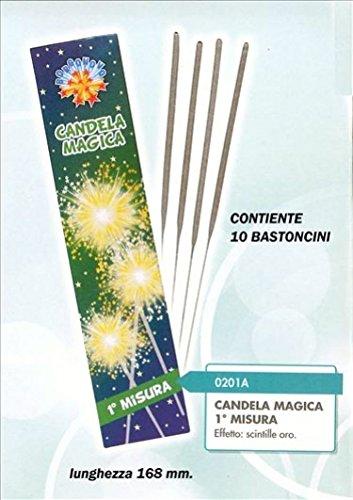 Zeus Party 140 pz Candeline 1° candeline Misura scintille Bastoncino Luminoso pirotecnico Stelline Festa
