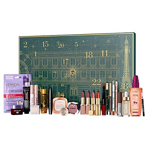 L'Oréal Paris Calendario dell'Avvento 2021, 24 Prodotti Make-up, Cura del Viso e Cura dei Capelli per prepararsi in Bellezza al Natale
