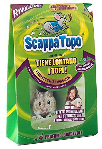 Repellente ecologico per allontanare i topi Scappatopo 3 pezzi. Registrato aTransparency di Amazon, che ne certifica l'autenticità per proteggere i clienti