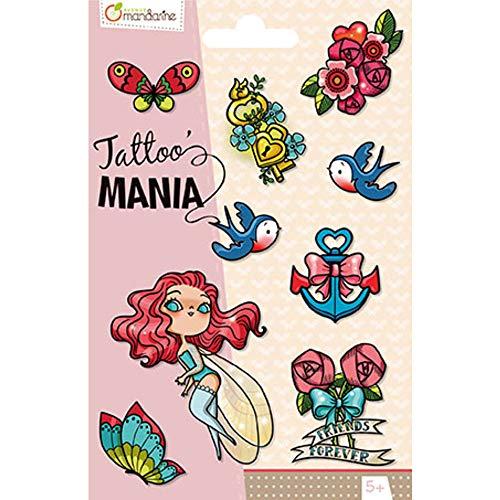 Avenue Mandarine CC002C Tattoo' Mania Tatuaggi temporanei, Fate