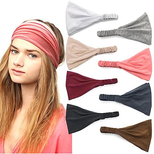 8 confezioni di fasce elastiche per capelli per yoga, sport, per la corsa