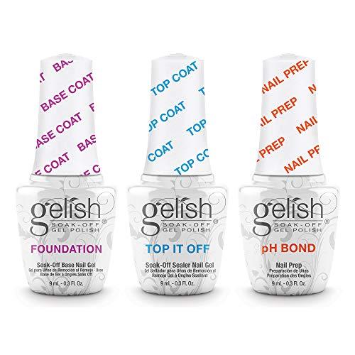 Harmony, Gelish, Set di smalti in gel per manicure, incl. Base, Top Coat e smalto per strato adesivo, 15 ml