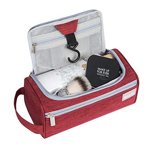 Eono by Amazon - Beauty Case Uomo & Donna, Borsa da Toilette Unisex Borsa Cosmetici per Valigie, Borsa da Viaggio per Lavaggio, Wash Bag, Toiletry Bag, Borsa Appendibile da Viaggio, Borgogna