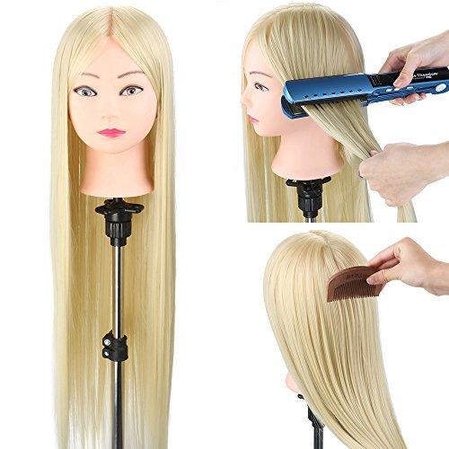 Neverland Beauty Testa Studio Manichini Parrucchiere Cosmetologia Formazione Manichino Pratica Modello 100% Capelli Sintetici Con Morsetto