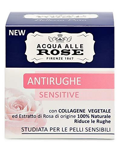 Acqua alle Rose Antirughe Sensitive con Collagene Vegetale, 50ml