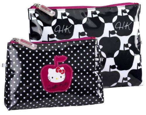 Hello Kitty, Beauty case con motivo mela, 2 pz.