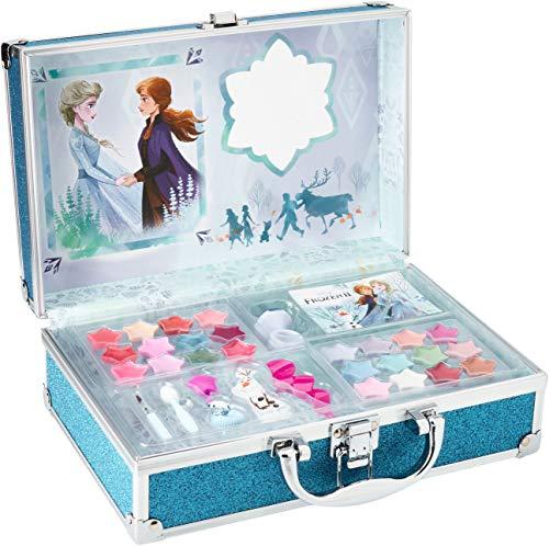 Markwins Frozen II in Time Beauty Travel – Valigetta per trucchi, set di trucchi per bambine, trucchi e accessori in una valigetta riutilizzabile con specchio