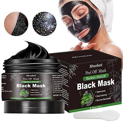 Maschera Nera, Black Mask, Maschera di comedone, Blackhead Remover Black Mask, Facciale Cura Strappando Stile Pulizia Profonda Pulizia Rimozione Di Comedone Maschera (120ML)