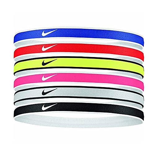 Nike Fascia 6ppk Elastic Hairband Fasce & Polsini Colorato U