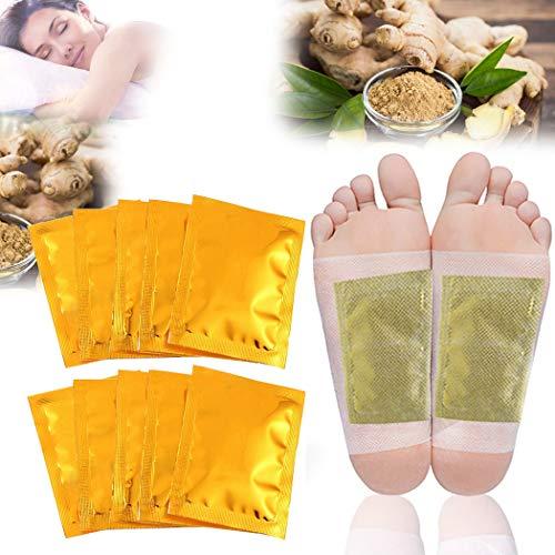 JUSTDOLIFE 25PCS Patch per la pulizia del piede Rilassante Rilassante per la cura dei piedi allo zenzero con foglio adesivo
