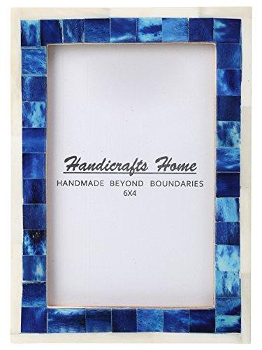 Handicrafts Home 4x6 Immagine Foto Telaio Mosaico Arte Inspired Annata Parete décor Regalo montatura [4x6 Blu]