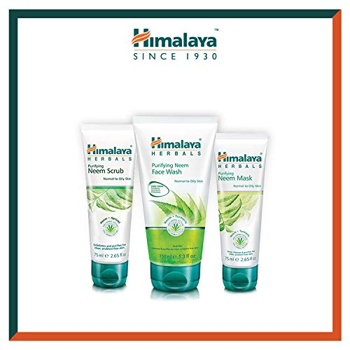 Himalaya Neem Face Wash Gel, Scrub and Mask - Soluzione naturale senza sapone per uomini e donne - Aiuta a ridurre al minimo, controllare e prevenire l'acne - Set di 3 (Total Acne Solution Set-Gel)