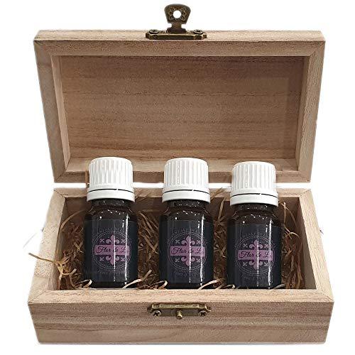 Olio Essenziale Flor De Lis Di Lavanda Puro, Set 3 bottiglie 10ml, Perfetto Profumatore Asciugatrice,Ambiente, Oli Essenziali Per Diffusori Ambienti