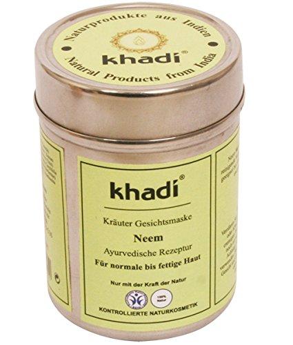 Khadi - Maschera Viso di Neem, elimina le tossine e le impurità, per pelli normali e grasse