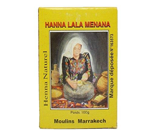 LALA MENANA - Hennè del Marrakech Rosso Freddo - Trattamento Colorante Naturale per Capelli - Polvere molto fine - Senza Picramato - 100 gr