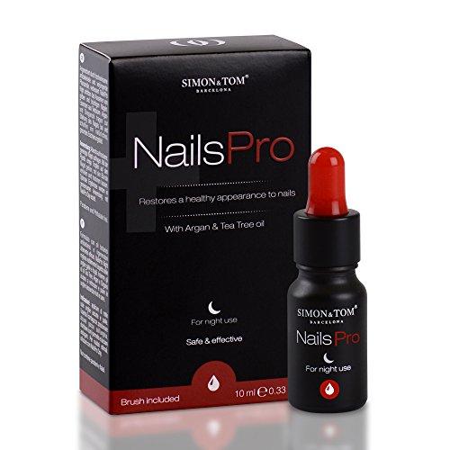 SIMON & TOM NAILS PRO NIGHT - Miscela di oli vegetali naturali per ripristinare e migliorare la salute e l'aspetto delle unghie - Trattamento notturno - Rimedio disinfettante / 10 ml.