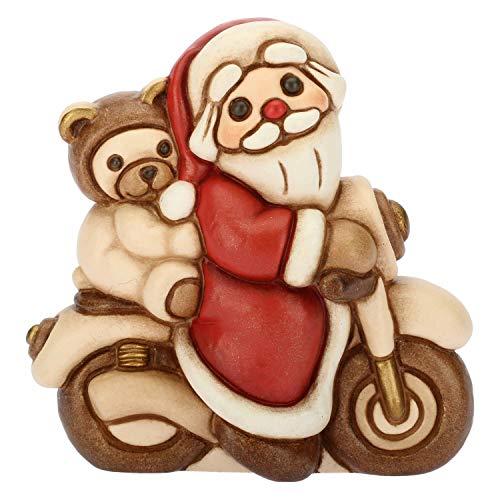 THUN - Babbo Natale in Moto - Formato Piccolo - Ceramica - 6,9 cm h
