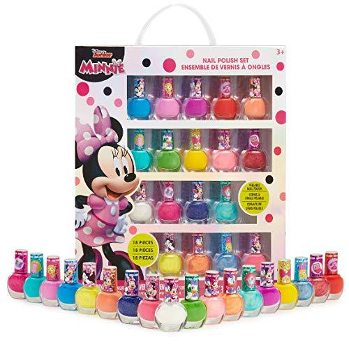 Disney Set Smalti Bambina, 18 Smalti per Unghie di Minnie, Smalto Peel off A Base d'Acqua, Regali Originali