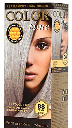 Color Time tinture per capelli permanenti con pappa reale 88 Bionda d'argento