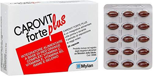 Mylan Carovit Forte Plus - Integratore Alimentare a Base di Red Orange Complex - 30 Compresse