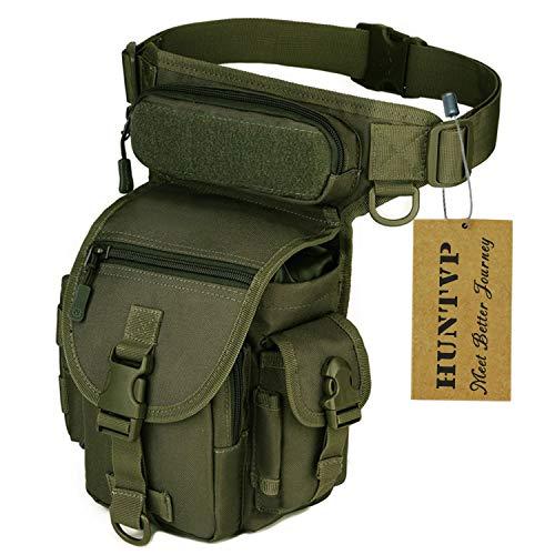 Huntvp® Marsupio Cosciale Tattico Militare Borsa Gamba Moto Molle Impermeabile per Campeggio Escursionismo Ciclismo Viaggio Trekking Sport Porta Smartphone