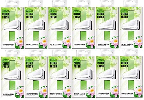 Areon Clima Deodorante Ambiente Giardino Segreto Filtri Condizionatori Profumati Casa Verde ( Secret Garden Set di 12 )