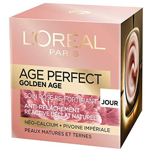 L'Oréal Paris Age Perfect Golden Age, trattamento giorno anti cedimento e colorito, 50ml