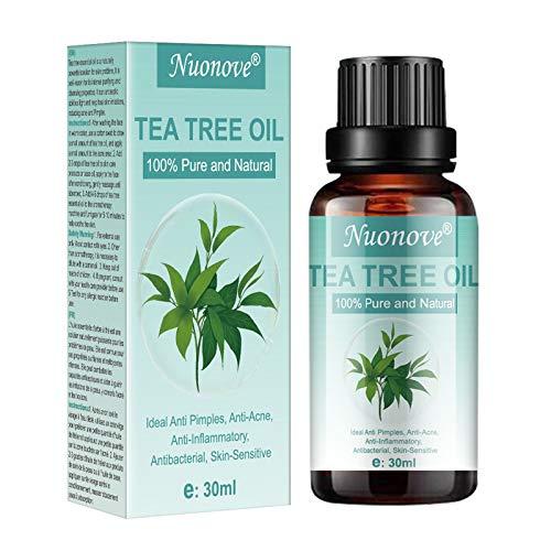 Tea Tree Oil, Tea Tree Olio Essenziale, Olio Essenziale 100% Puro per Alleviare Imperfezioni della Pelle con Acne, Brufoli, Olio di Albero del Tè, per Aromaterapia, Massaggi, Diffusori, 30ml