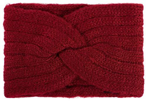 styleBREAKER Fascia per la Fronte da Donna in Maglia fine con Torsione, e Nodo, Fascia per Capelli, Fascia per la Testa 04026041, Colore:Rosso Bordeaux