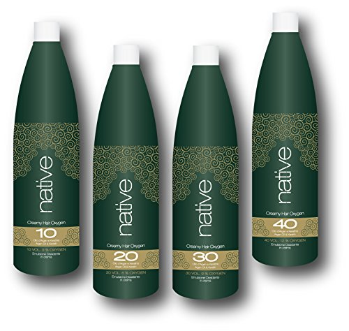 Native - Emulsione ossidante in crema con estratti di olio di Argan e Ketarina (1000ml) (30 Vol-9%)