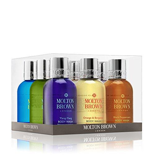 Molton Brown - Set regalo per bagnoschiuma, 9 pezzi, colore: Marrone
