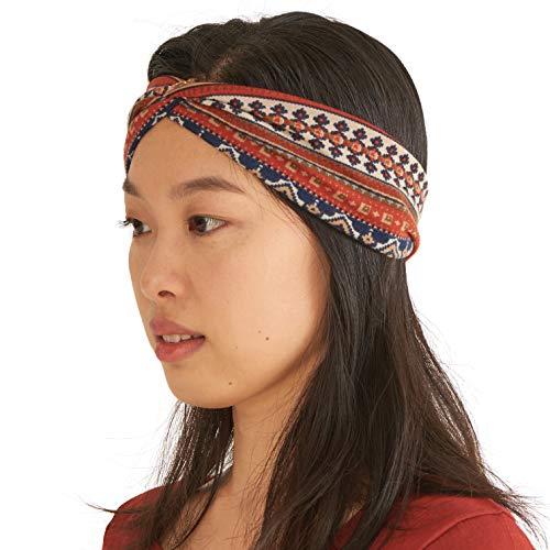 Fascia Capelli Estiva Turbante Da Donna - Fascia Yoga per Testa Esercizi Viaggi Elastiche Comoda Alla Moda Rosso
