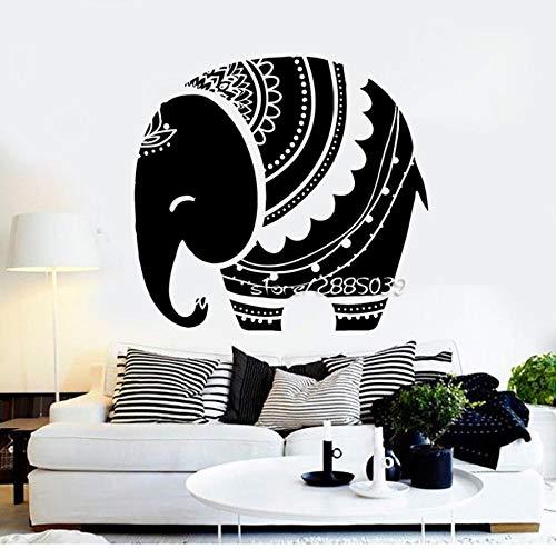 CQAZX Adesivi murali animali elefantino Decor camera da letto per bambini Adesivo murale Carta da parati di alta qualità Design artistico Tatuaggio a muro 72 * 77 cm